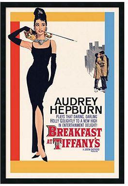 Amanti Art Wall Art Audrey Hepburn Breakfast at Tiffany s Framed Textured Art Movie Room