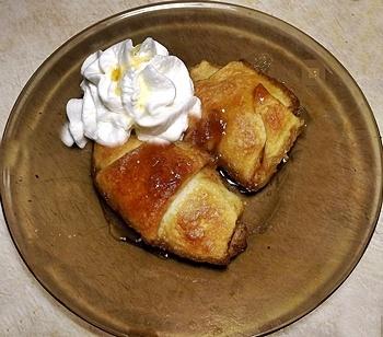 Peach crescent rolls