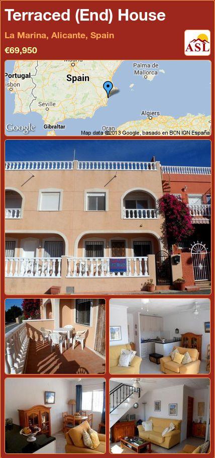 Terraced (End) House in La Marina, Alicante, Spain ►€69,950 #PropertyForSaleInSpain