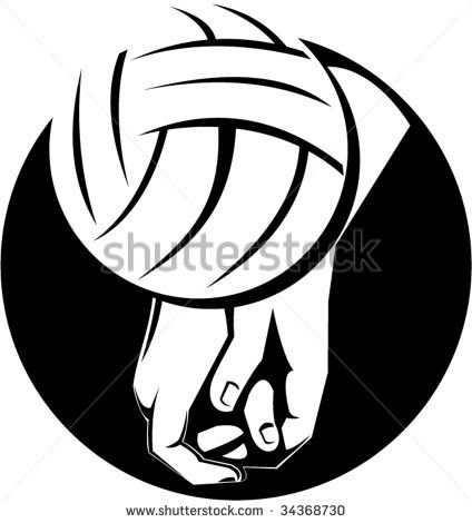 Hand about to strike a volleyball #volleyball #retro #illustration