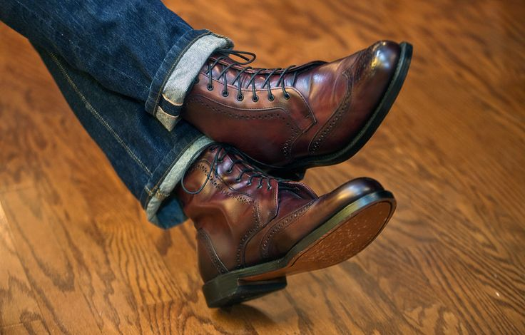 Allen Edmonds Dalton in Oxblood - Made in Port Washington, WI. Beautiful and versatile dress boot color that goes with anything from navy jeans to a formal gray suit.