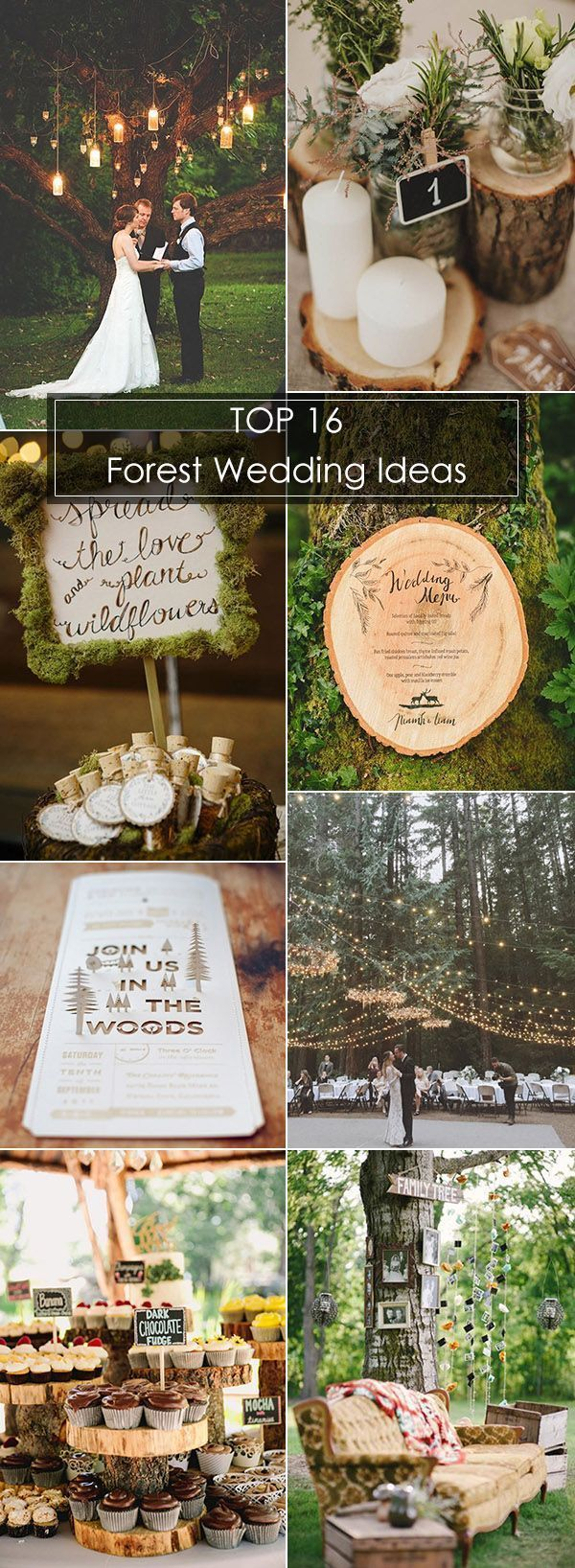 Have you ever thought about a wedding in the forest? It's very IN now and one of the biggest wedding trends for the year 2017. Imaging a forest ceremony with thousands of paper cranes dancing in the breeze above, gorgeous lights hang from the trees, charming nature beauty all round. See the woodland inspiration here:	http://ohbestdayever.com/2016/10/18/16-inspired-ideas-whimsical-forest-wedding/