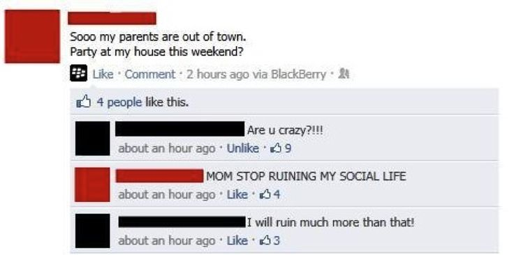Why You Should Never Friend Your Parents On Facebook