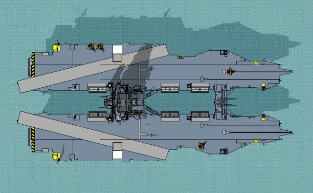 Future Aircraft Carrier Concepts From The Bow And Stern The Carrier Strikes A Menacing Solid