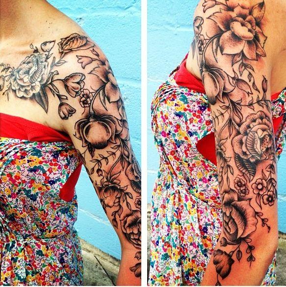 Best 25+ Vintage floral tattoos ideas on Pinterest ... Vintage Flower Tattoo Sleeve