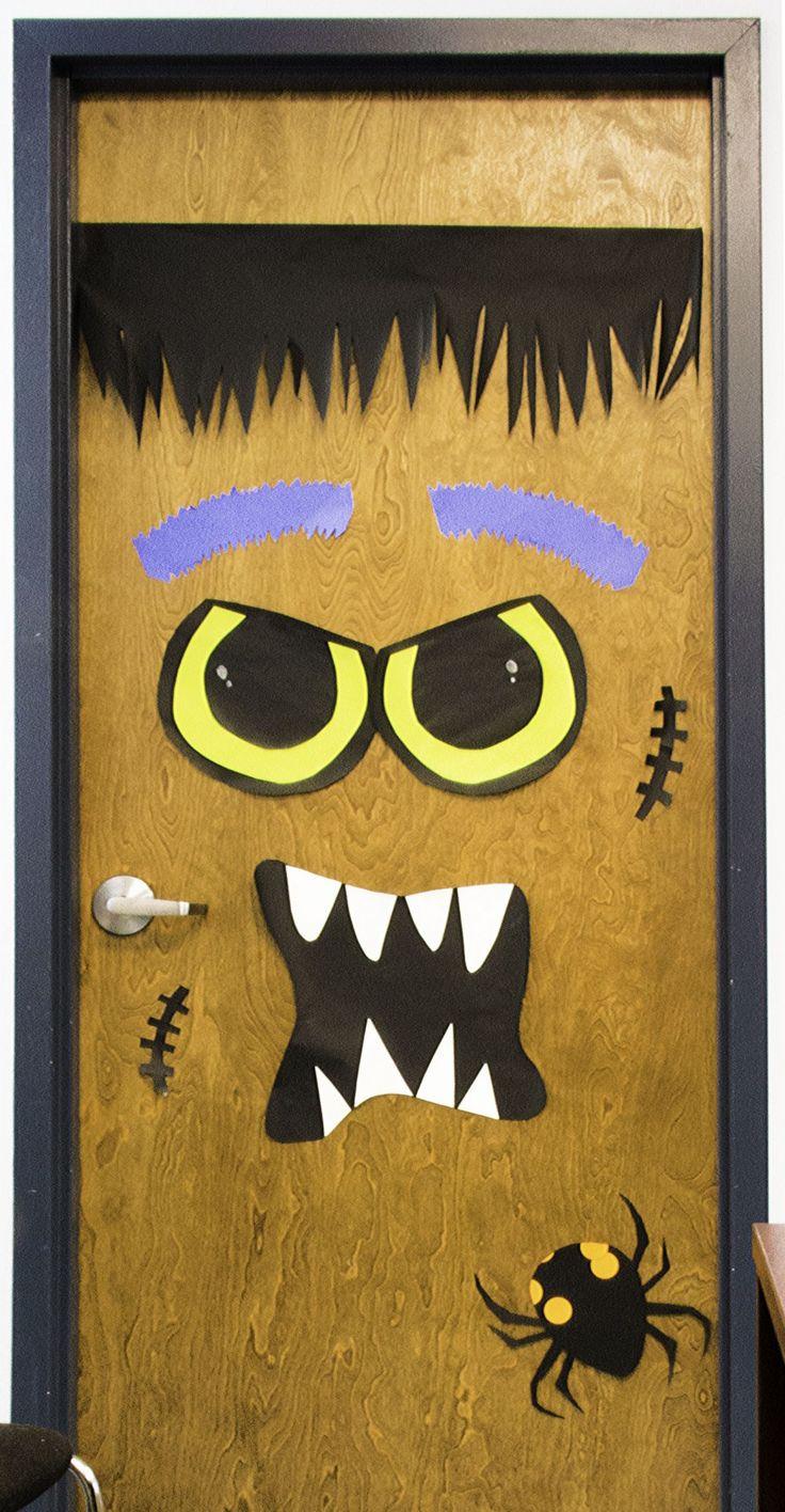 Homemade halloween door decorations - Diy Halloween Door Decorations