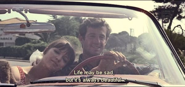 Life May be sad but it is always beautiful. ~ Anna Karina #love #amwriting