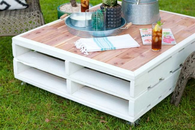 Diy Pallet Coffee Table Jardin Pinterest Pallet