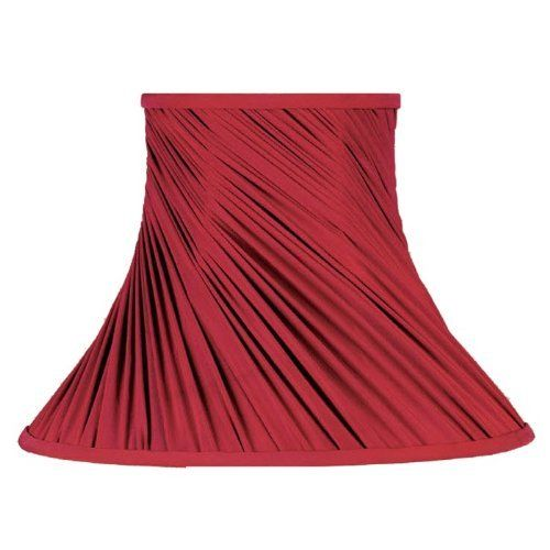 Wide Bell Shaped Lamp Shade, Red, Faux Silk Fabric Shade, B8713 by Laura  Ashley. $66.60. These bell shaped lamp shades come in a large variety of ...