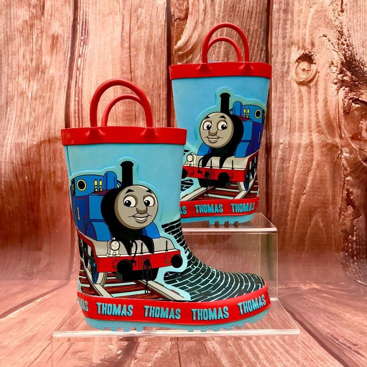 Thomas The Tank Engine Boots Wellies Water Rain Garden Walks Great Condition