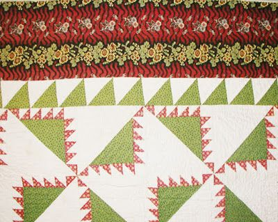 Kansas Troubles pattern. A Civil War quilt pattern? This early version from Spencer Museum of Art.