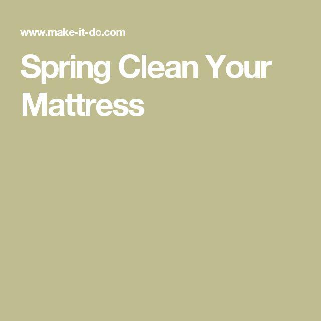 Spring Clean Your Mattress