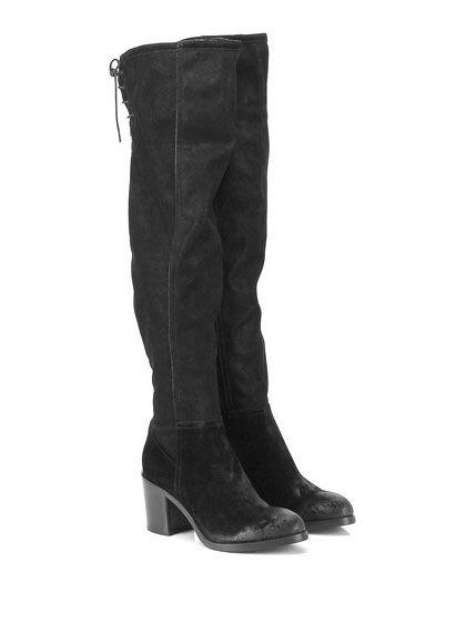 FRUIT - Stivali - Donna - Stivale in camoscio effetto spazzolato vintage con…