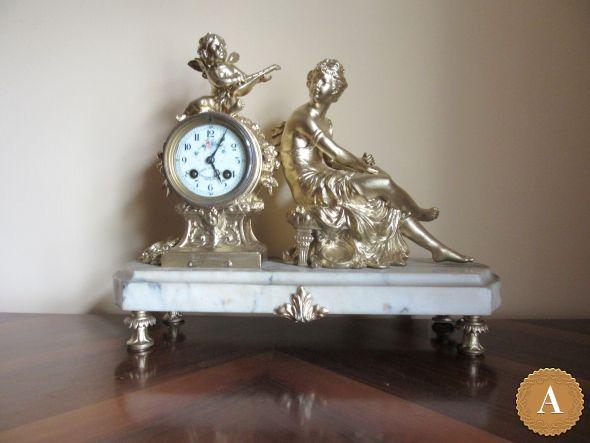 Часы каминные. Франция 1890 гг.