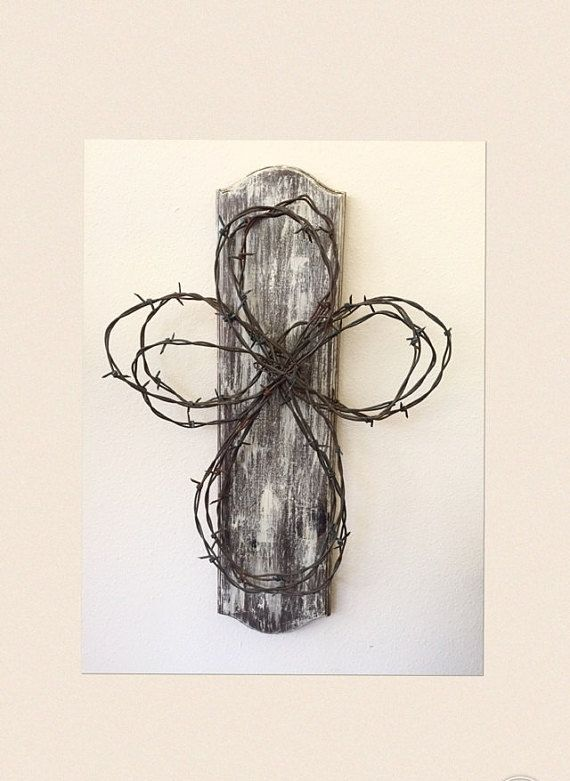Barbed Wire Rustic Cross by simplehearteDesigns on Etsy