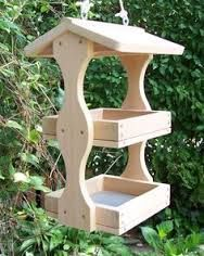 Image result for homemade wooden bird feeders