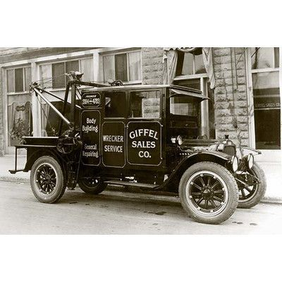 """Buyenlarge 'Giffel Sales Co. Wrecker Service' Photographic Print Size: 66"""" H x 44"""" W"""