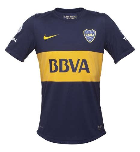 La nueva camiseta de Boca.Aunque prefiero la de River...)