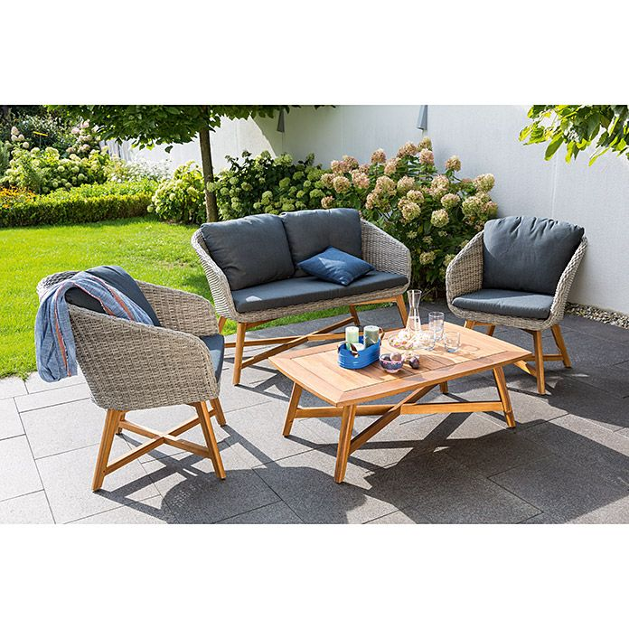 Sunfun Pauline Loungemobel Set 4 Tlg Pe Geflecht Lounge