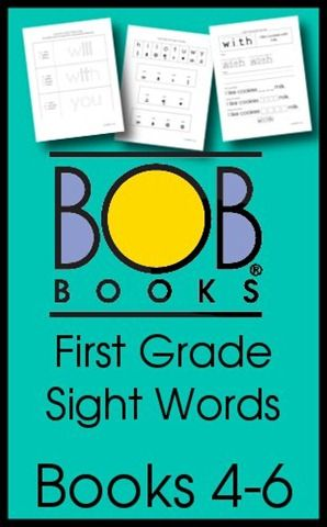 BOB Books First Grade Sight Words Books 4-6
