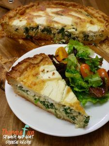Spinach and Goat Cheese Quiche - Week 18, 2016