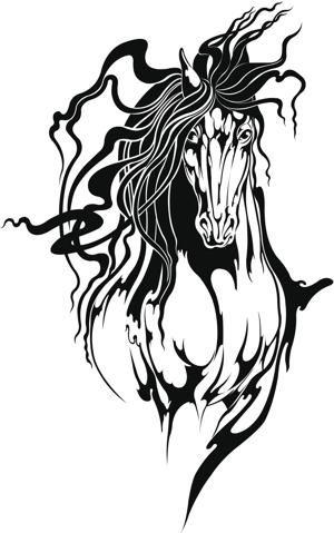 Tribal Animal Tattoos- The Spirited Horse