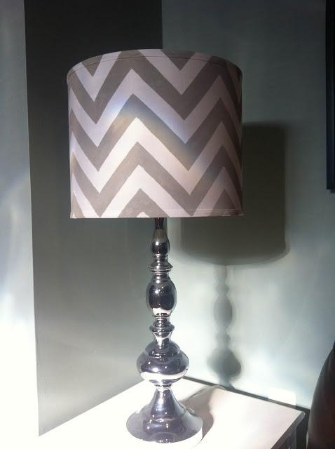 DIY: Chevron Lamp Shade. Good photos and instructions.