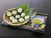 蔵王名物「稲花餅(いがもち)」