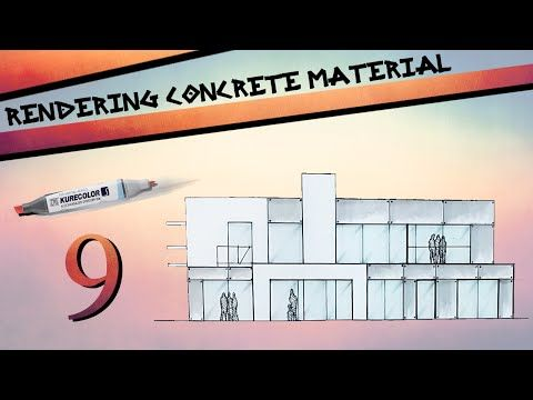 Rendering Concrete Material - YouTube