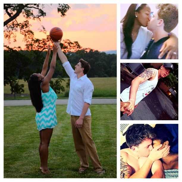 Penn State quarterback Tyler Ferguson & his girlfriend Rachol West #love #wmbw #bwwm