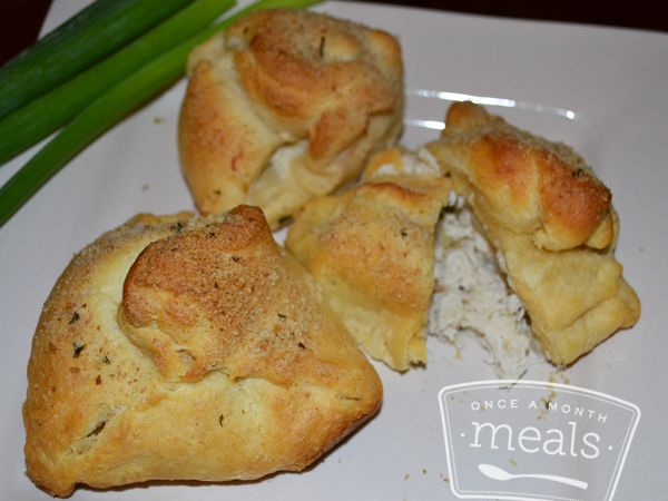 Creamy Chicken Pockets from Once A Month Meals - 6 WW Plus Points