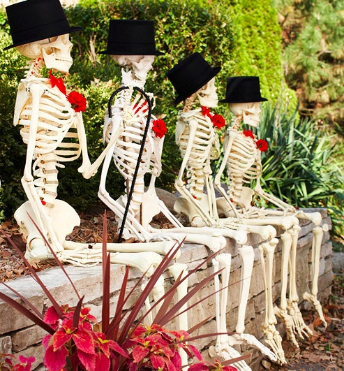 skeletons to sit on my front planter bed?  i love it!