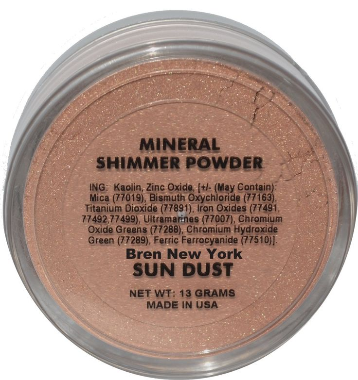 Sun Dust ~ Mineral Shimmer Powder ~ Paraben Free Unique light reflecting mineral shimmer powder will give you that luminous glow you truly desire. Can be used on face and body and is perfect for all skin tones. Unlike traditional makeup there are no oils, talc, fragrances, synthetic colorants or dyes.