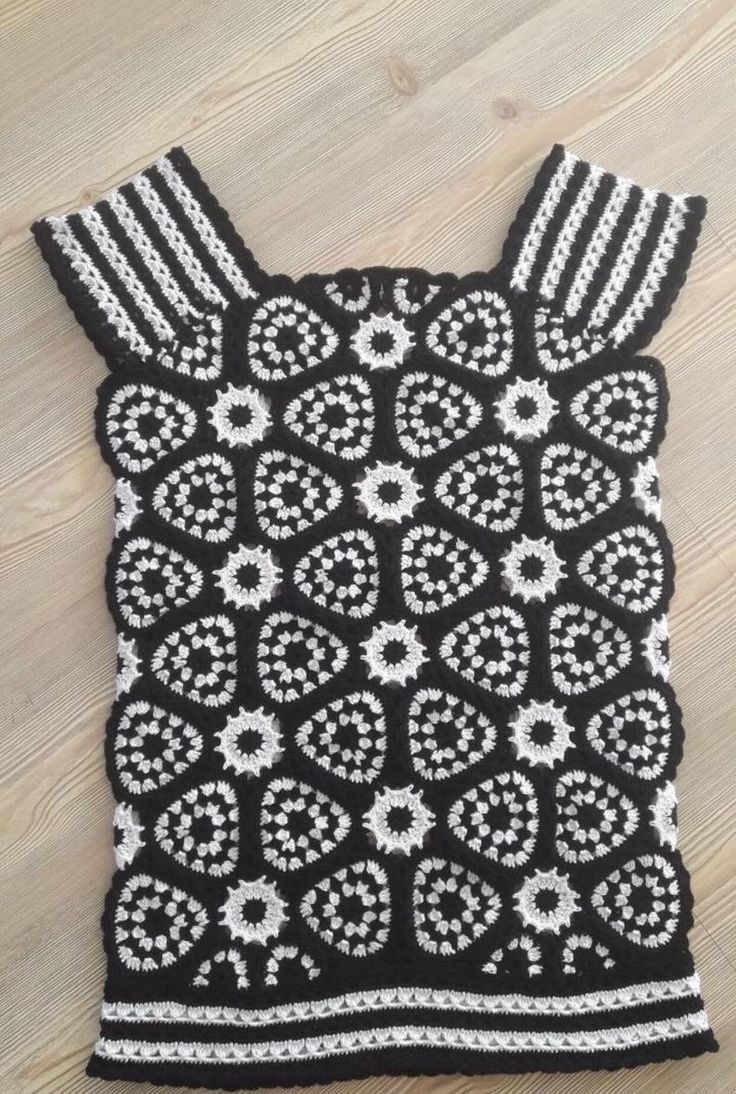 Haak Mandala Design mini jurk, Boho hippie jurk, Festival kleding