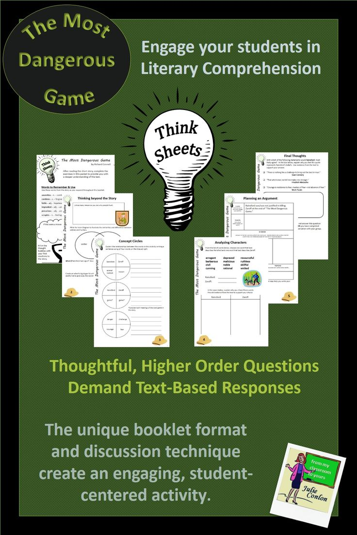 worksheet The Most Dangerous Game Worksheet 95 best the most dangerous game images on pinterest a creative and challenging assessment activity for by richard connell