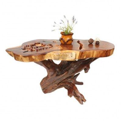 rustikaler Tisch aus Teakholz www.tp-moebel.de