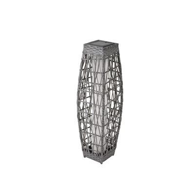 allen + roth 30-in Savona Grey Outdoor Solar LED Lantern