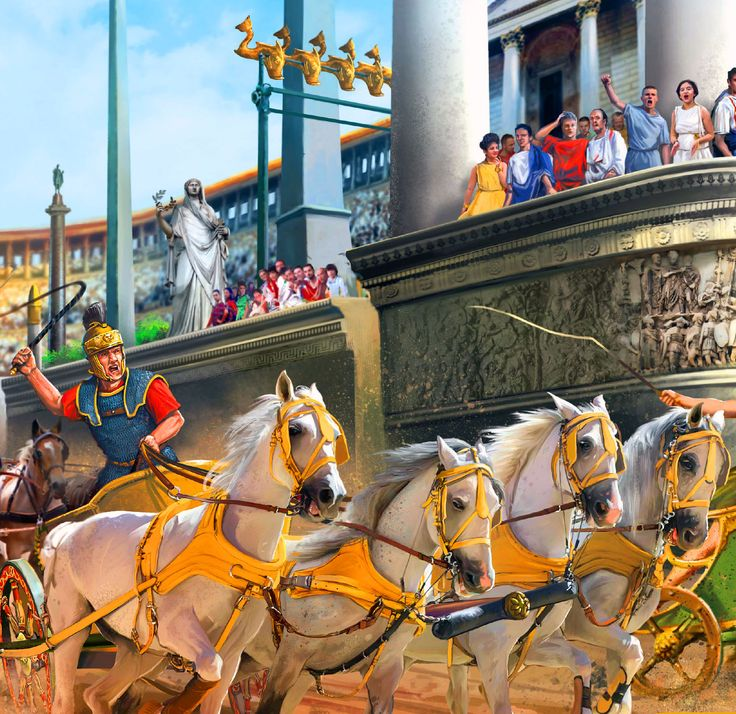 Chariot race at Circus Maximus
