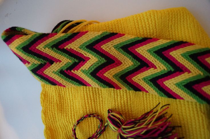 Yellow wayuu bag