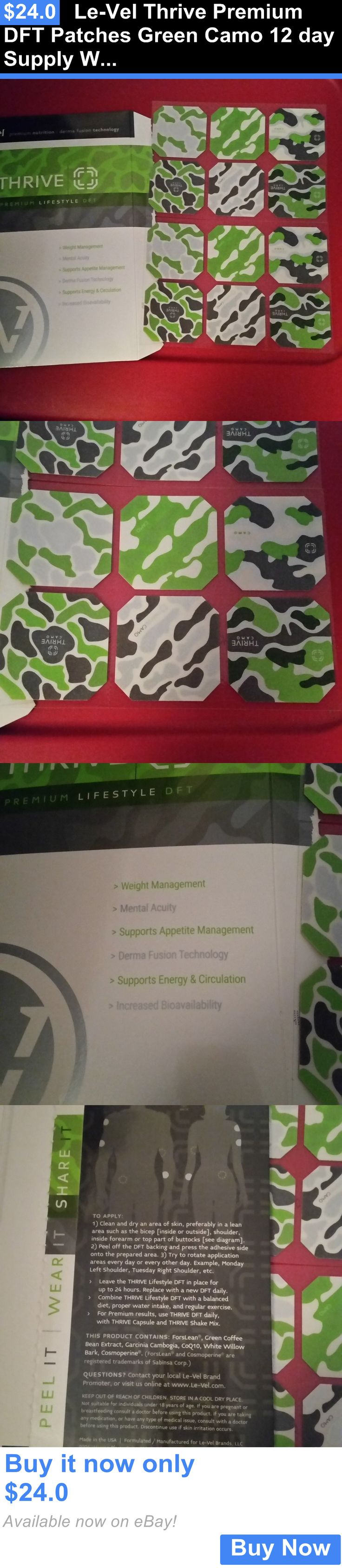 Weight Loss: Le-Vel Thrive Premium Dft Patches Green Camo 12 Day Supply Weight Loss Energy! BUY IT NOW ONLY: $24.0