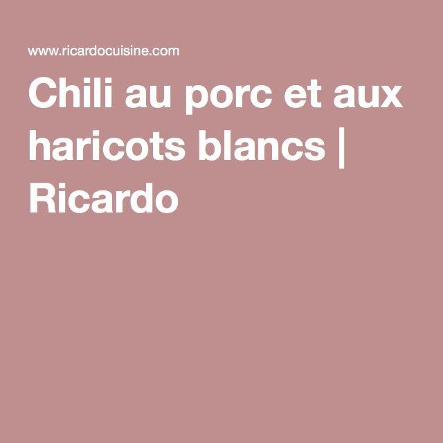 Chili au porc et aux haricots blancs   Ricardo