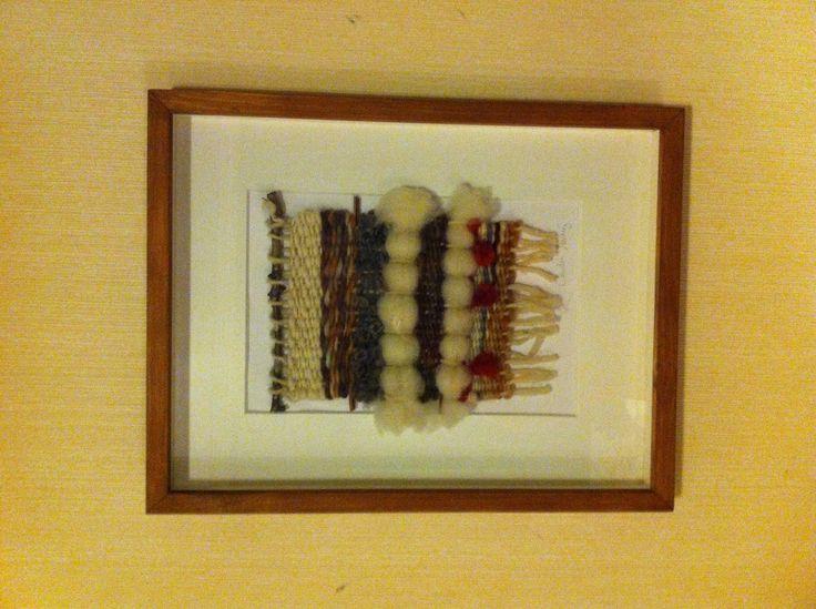 Serie de dos telares creados por claudia Martínez y enmarcado
