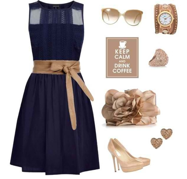 Blue and tan outfit... Someone find me this dress now!