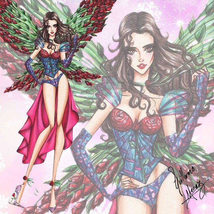 The Disney Princess Victoria's Secret Collection by Guillermo Meraz - Belle