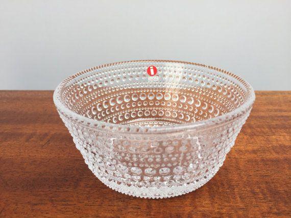Iittala Glass Dewdrop Bowl Scandinavian Glass $15.00 at  Unemaisonbleu