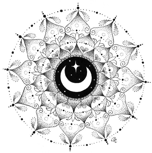 Moon mandala by Wecame2remembART.deviantart.com on @DeviantArt