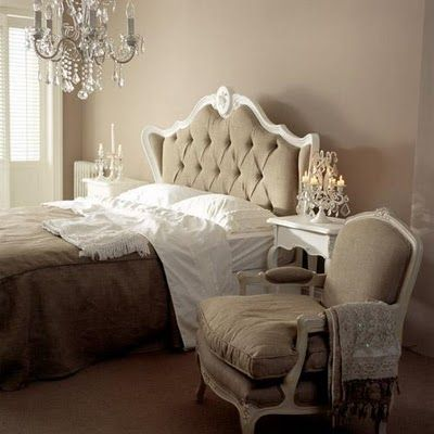 love a gorgeous chandelier over the bed in our master