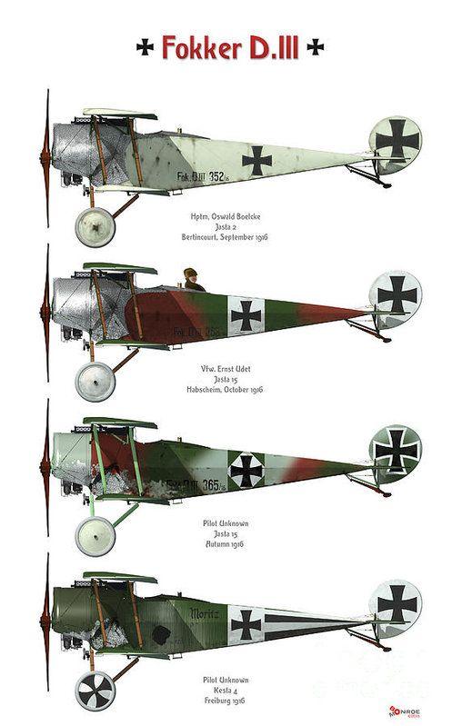 Fokker D.iii Profile Poster Art Print by Bo Monroe