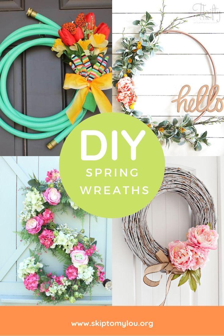 Diy Spring Wreaths Diy Spring Wreath Spring Diy Spring Wreath