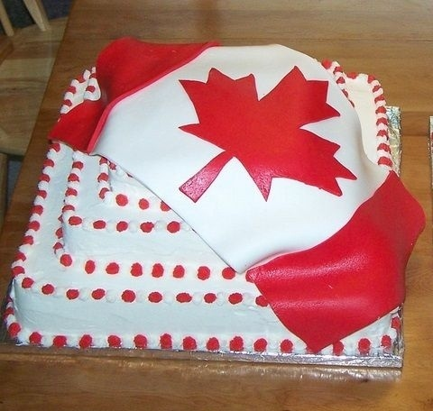 Canada Day cakes